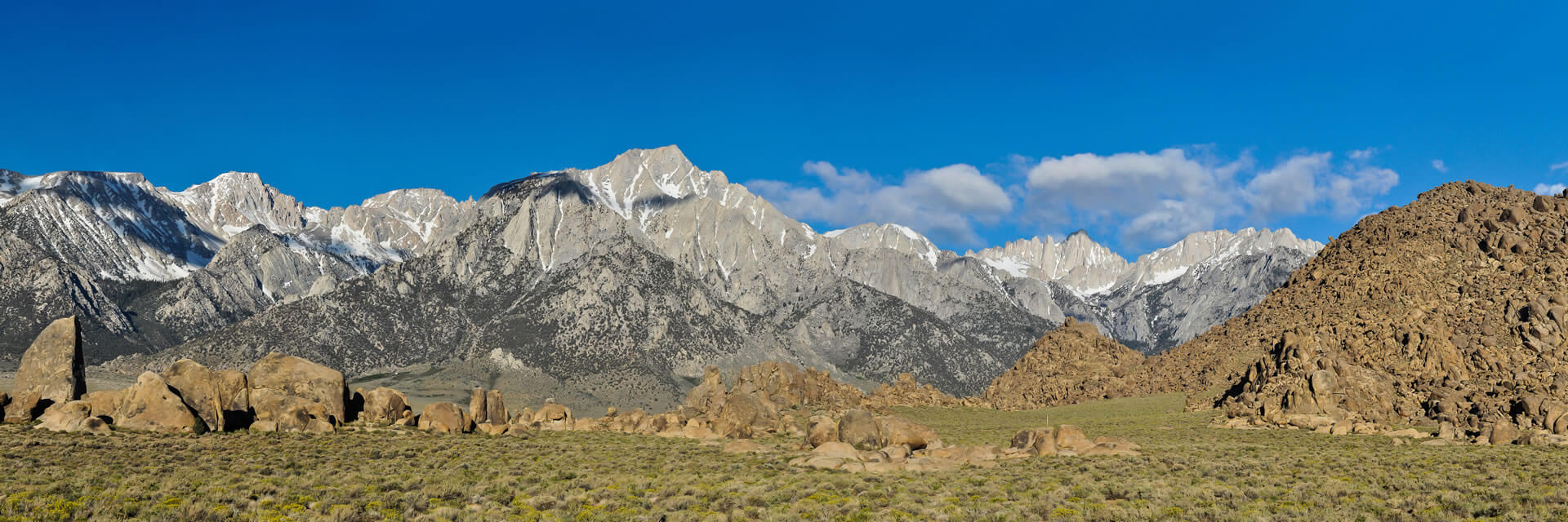 Panorama of Lone Pine Peak