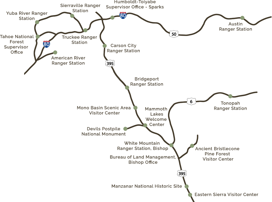 Eastern Sierra Interpretive Area Map