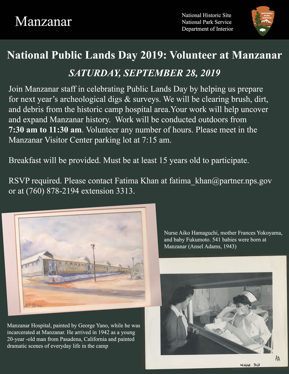 National Public Lands Day flyer