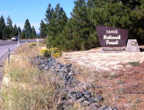 Gary Barnett Memorial Tahoe National Forest Portal Sign